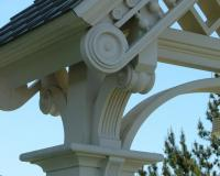 Close up detail on victorian gate