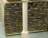 Custom Turned Newel Post with finial and cap
