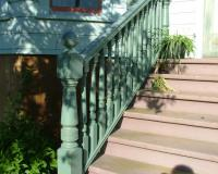 Victorian newel, balusters and rails reflecting post detail