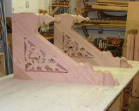 Porch awning restoration corbels